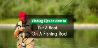 how to put a hook on a fishing rod