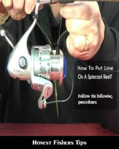 Honest Fishers: How To Put Line On A Spincast Reel